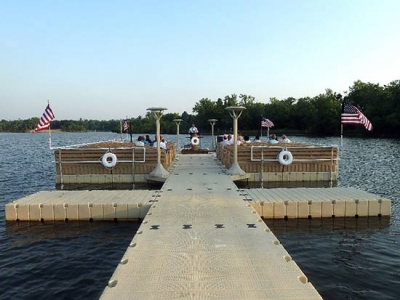 Main walkway and boat docks