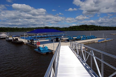 50 ft. gangway at Mercer County Marina