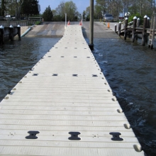 A commercial boat ramp