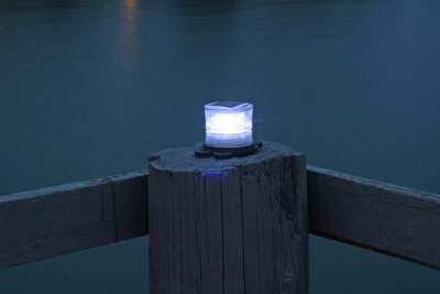 Picture of clear marine solar light at night.