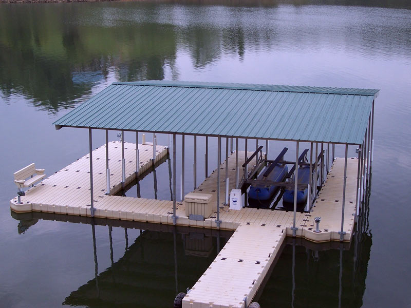 Roof and Canopy systems | shade protection for EZ Docks, no maintenance