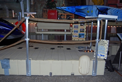 Picture of double Rope Railing Stand (uses a double rope).