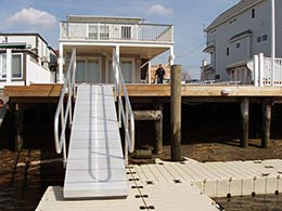 Picture of a custom aluminum gangway