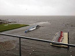 picture of EZ Docks after Hurricane Sandy